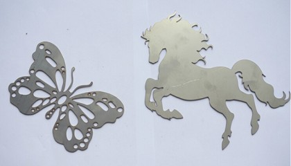 laser engraving cutting samples on metal