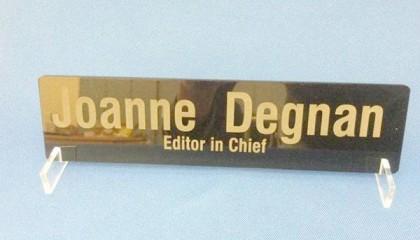 nameplate engraved by laser marking engraving machine
