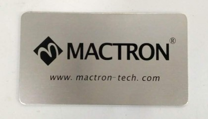 nameplate printed by laser marking machine system