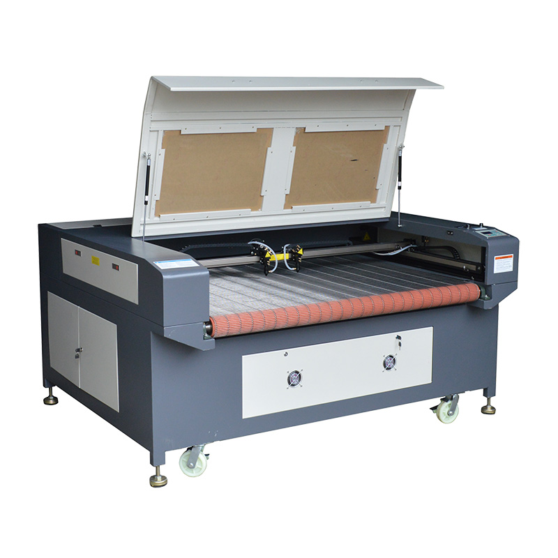 Double Heads Auto Feed Co2 Laser Cutting Machine