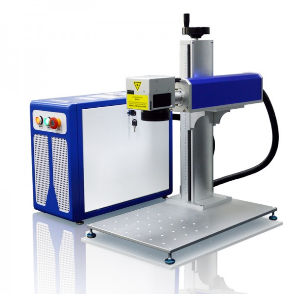 Desktop Split Fiber Laser Marking Machine 45 Degree View