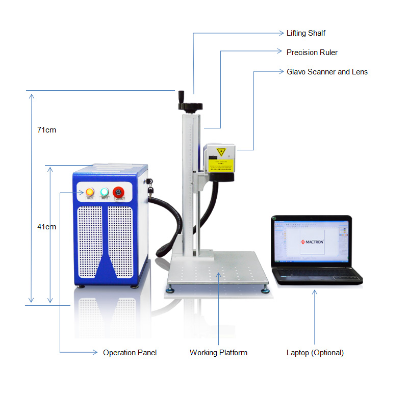 Mactron Portable Desktop Fiber Laser Marking Machine