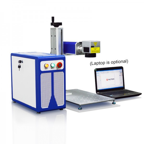 Split Desktop Fiber Laser Marking Machine with Laptop