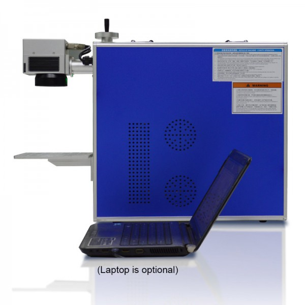 Integrated Fiber Laser Marking System Side View