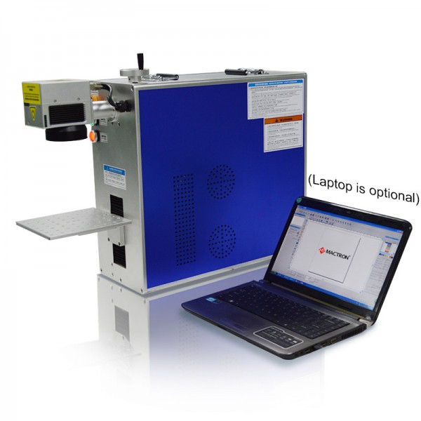 Integrated Portable Fiber Laser Marking System with Laptop