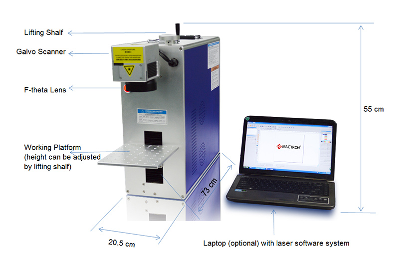 Mactron Integrated Fiber Laser Marking Machine