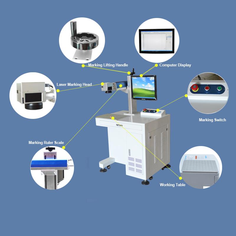20W Standard Laser Marking Machine System MT-F Series Details