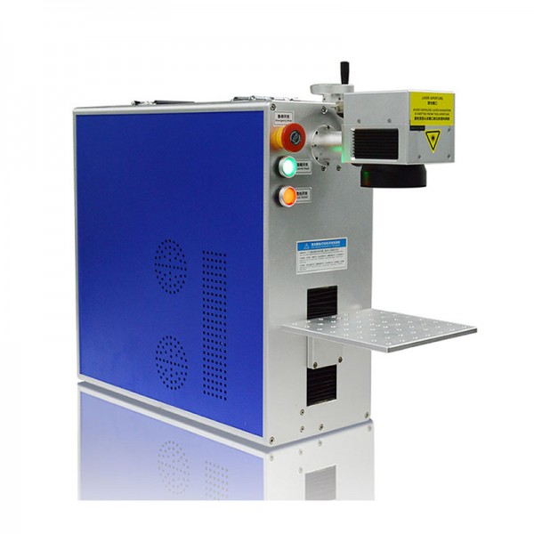 Integrated Fiber Laser Marking Machine Mactron Tech Side View