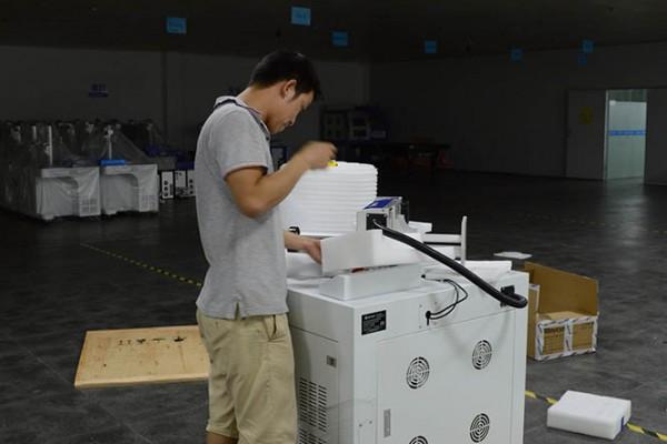 Pack Well Ruler Part on Top of Fiber Laser Marker