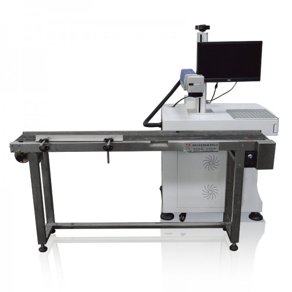 30W Flying Fiber Laser Marking Printing Machine