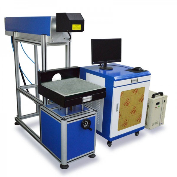 60W Co2 RF Metal Tube Laser Marking Machine
