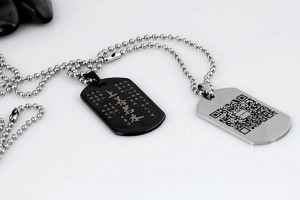 Necklace Hallmarked by Laser Marking Engraving Machine