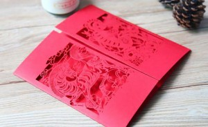 Wedding Invitation Card Made by Laser Etching Machine