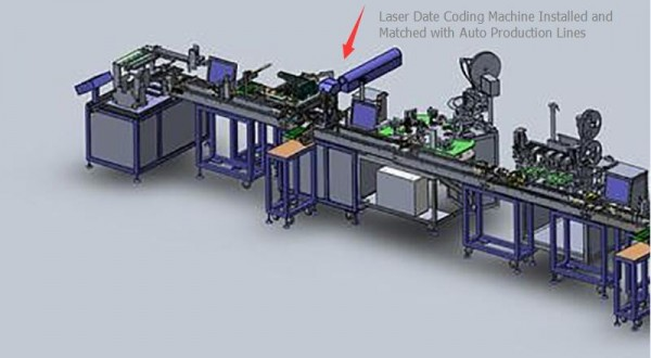 Laser Date Coding Machine Installed with Auto Production Lines