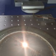 Laser Engraving on Ceramic Plate by Laser Marking Engraving Machine