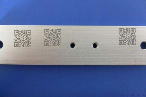 Laser Marking QR Code on Aluminum Board