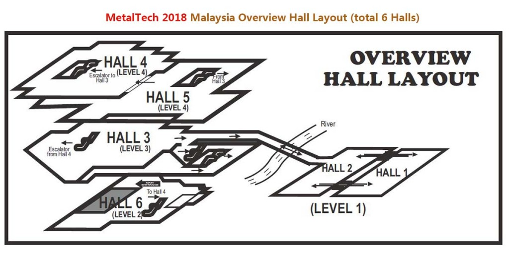 Metaltech 2018 Malaysia Overview Hall Layout