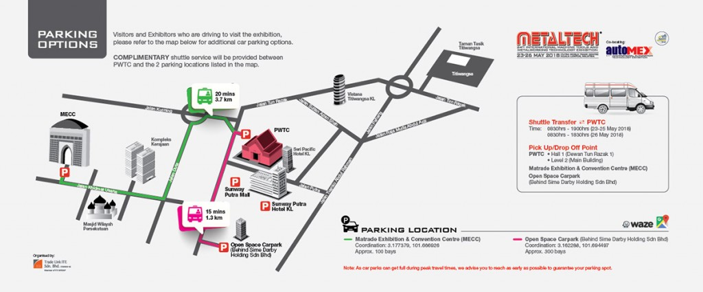 MetalTECH 2018 Parking Options