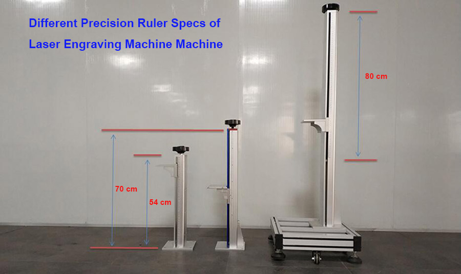 Different Ruler Specs of Mactron Laser Engraving Marking Machine