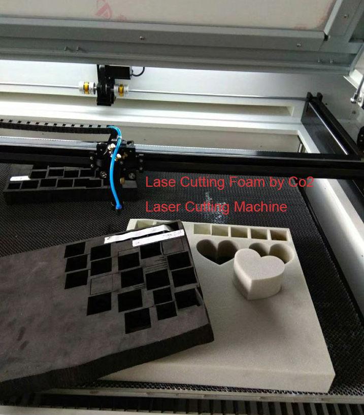 Laser Cutting Foam by Co2 Laser Cutting Machine