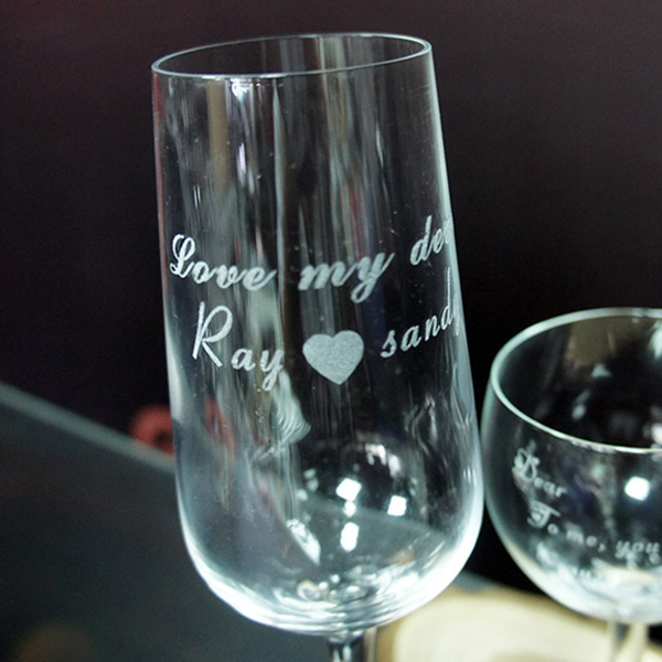 Laser Marking Engraving on Glasses and Crystal